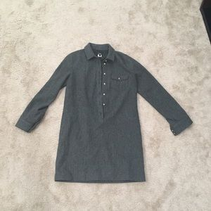 J crew button shirt wool dress fully lined